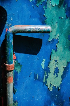 Rusty garden gate_