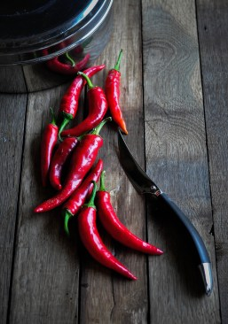 Chillies and knife 1