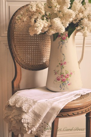 White Lilac and Flowered Jug 1