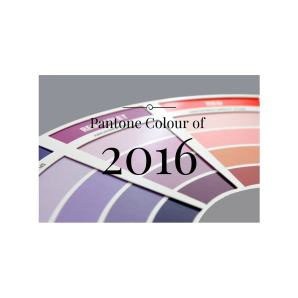 Pantone Colour of 2016