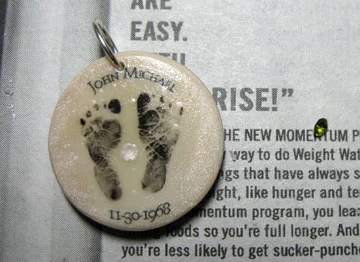 Baby footprint pendant directions the artful crafter baby footprint pendant closeup aloadofball Choice Image