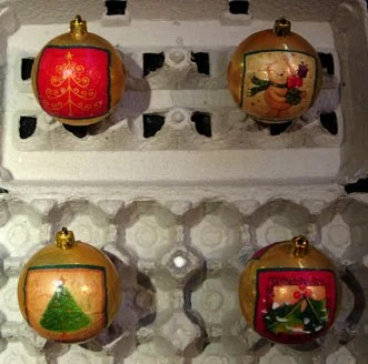 Decoupage Christmas Ornament How-To - The Artful Crafter