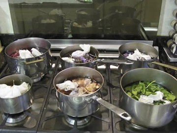 Boiling Eggs for Naturally Dyed Easter Eggs