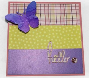 Butterfly Spring Card: Assemble Front Panel