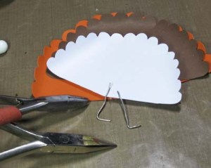 Turkey Place Cards - Form Wire Props