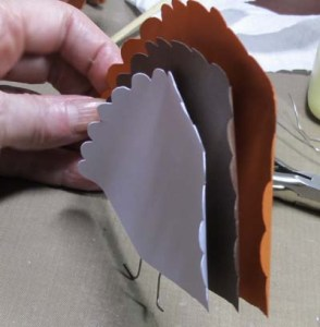 Turkey Place Cards - Tail Feathers Assembled