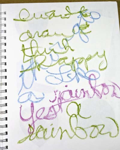 Drawing Out Inner Critic Hawaiian Beauty Scribble Words In Color