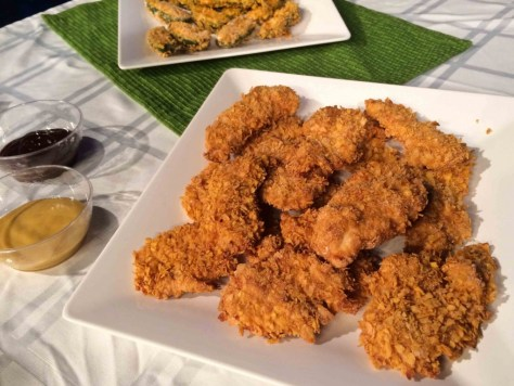 "Corn Flake Crusted ""Chicken"" Fingers"