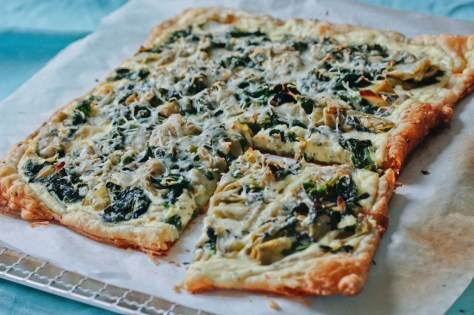 Spinach, Artichoke & Ricotta Tart