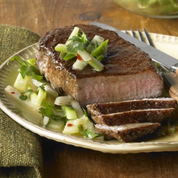 Chinese Five-Spice-and-Maple Glazed Pork Loin Chops