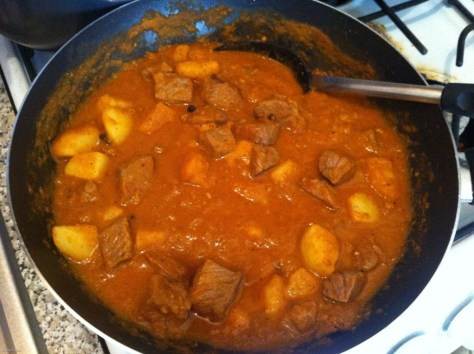 Simmering Vindaloo Curry