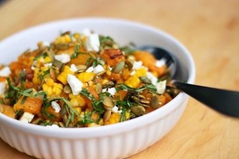 Pumpkin and Corn Salad