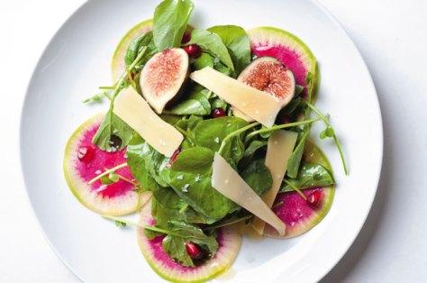 Watermelon, Radish and Watercress Salad