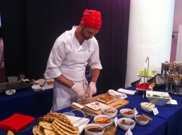 Chef preparing Pulled Pork