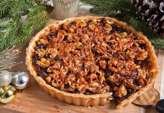 Caramelized Onion, Ricotta & Pancetta Tart