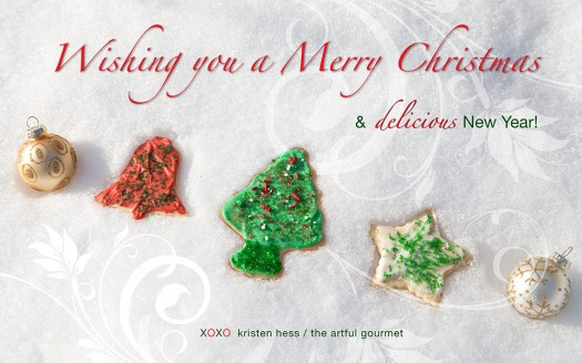 Wishing all of you a Merry Christmas and Delicious New Year!