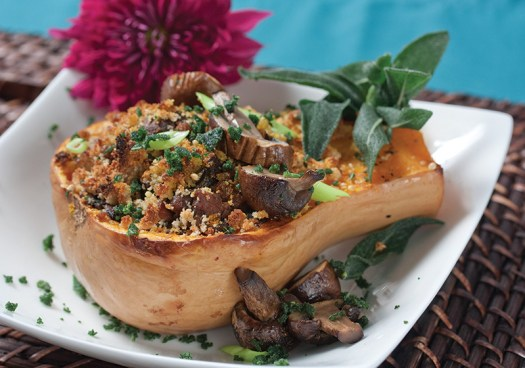 Mushroom Bean Curry with Butternut Squash