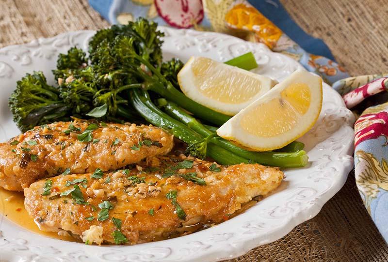 Rochester-Style Chicken French & Lemon Broccolini