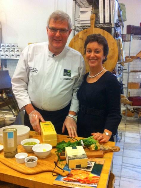 Chef Maurice Keller and Founder Margaret Jeffares