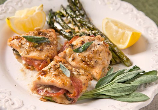 Prosciutto-Sage-Provolone Chicken