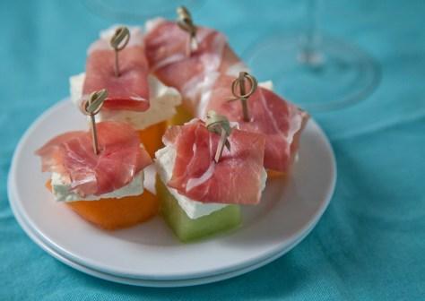 Prosciutto-Feta-Melon-Bites