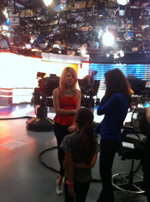 On set with Jennette McCurdy on CBS The Couch