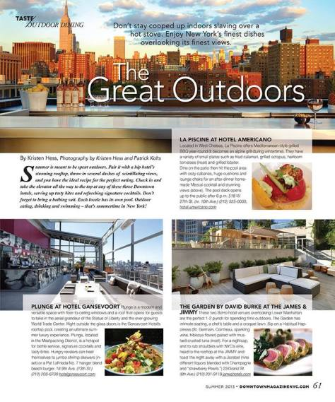 Top Outdoor Dining Spots NYC