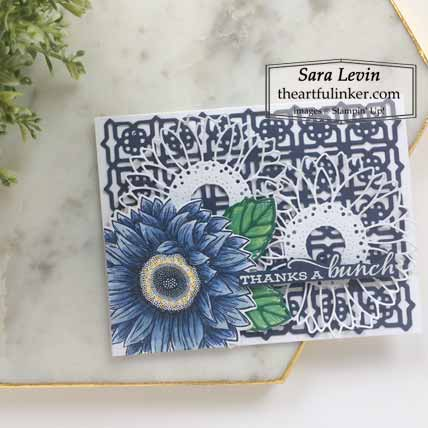 Stampin Up Celebrate Sunflowers like Crown and Ivy for Stamping Sunday Blog Hop Preview 2020 Annual Catalog. Shop for Stampin Up with Sara Levin at theartfulinker.com