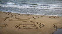 Sand Art Sean Corcoran The Copper Coast Waterord Beach Ireland 25