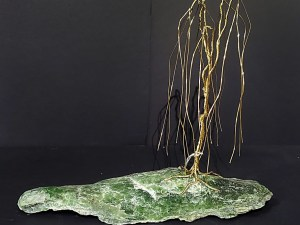 27A Brass Tree on Jade - Brilliantly Creative