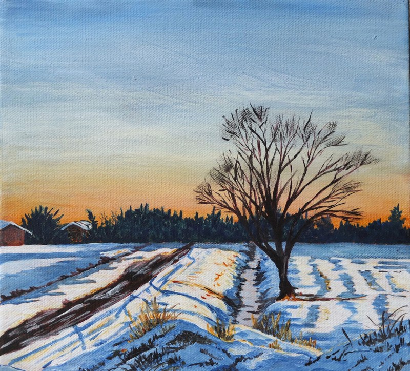 Winterglow in Pitt Meadows by Kathy Nay