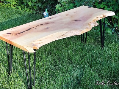 Epoxy and Wood table by Corrine Robson