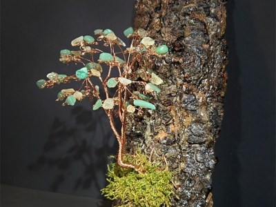 Copper tree with Aventurine & Citrine by Bill Cheff