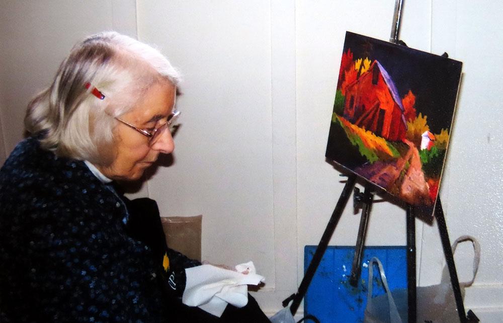 Shirley Thomas at work