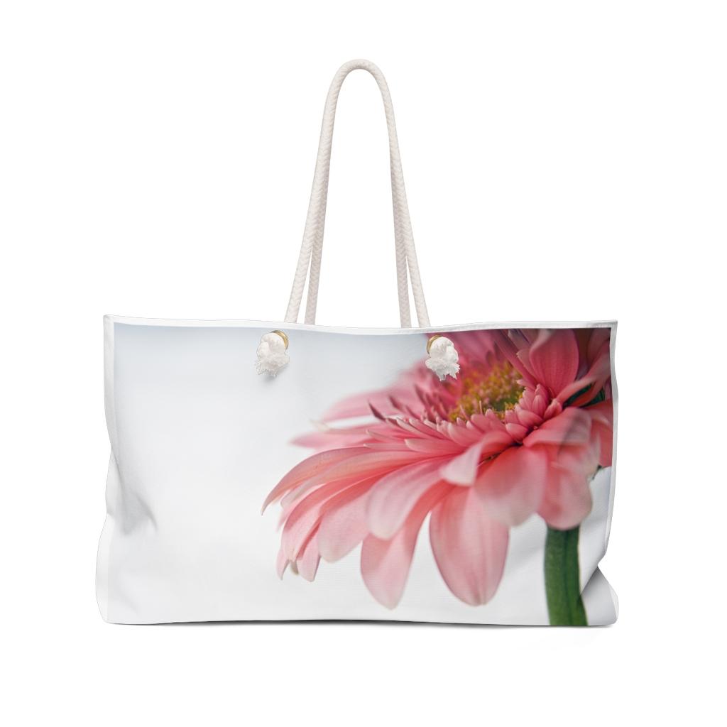Pink Gerber Daisy Weekender Bag