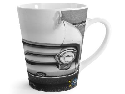 White Ford Truck Latte Mug