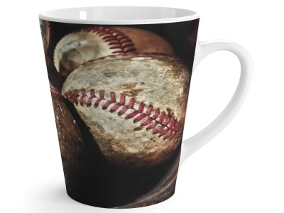 Vintage Baseballs Latte Mug