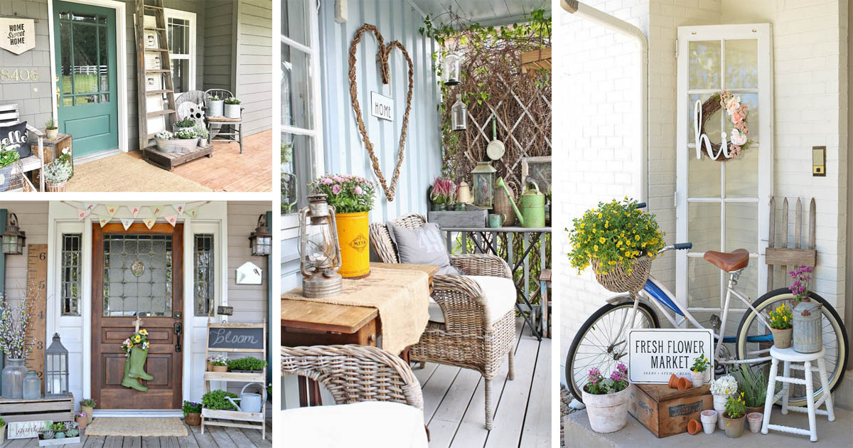 15 Pretty Ideas To Make Your Front Porch Welcoming And
