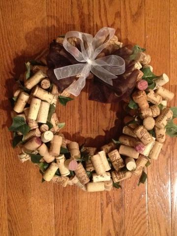 Cork Wreath Christmas Gift