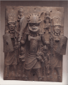 plaque-warrior and attendants-edo people