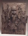 plaque-warrior and attendants-edo people
