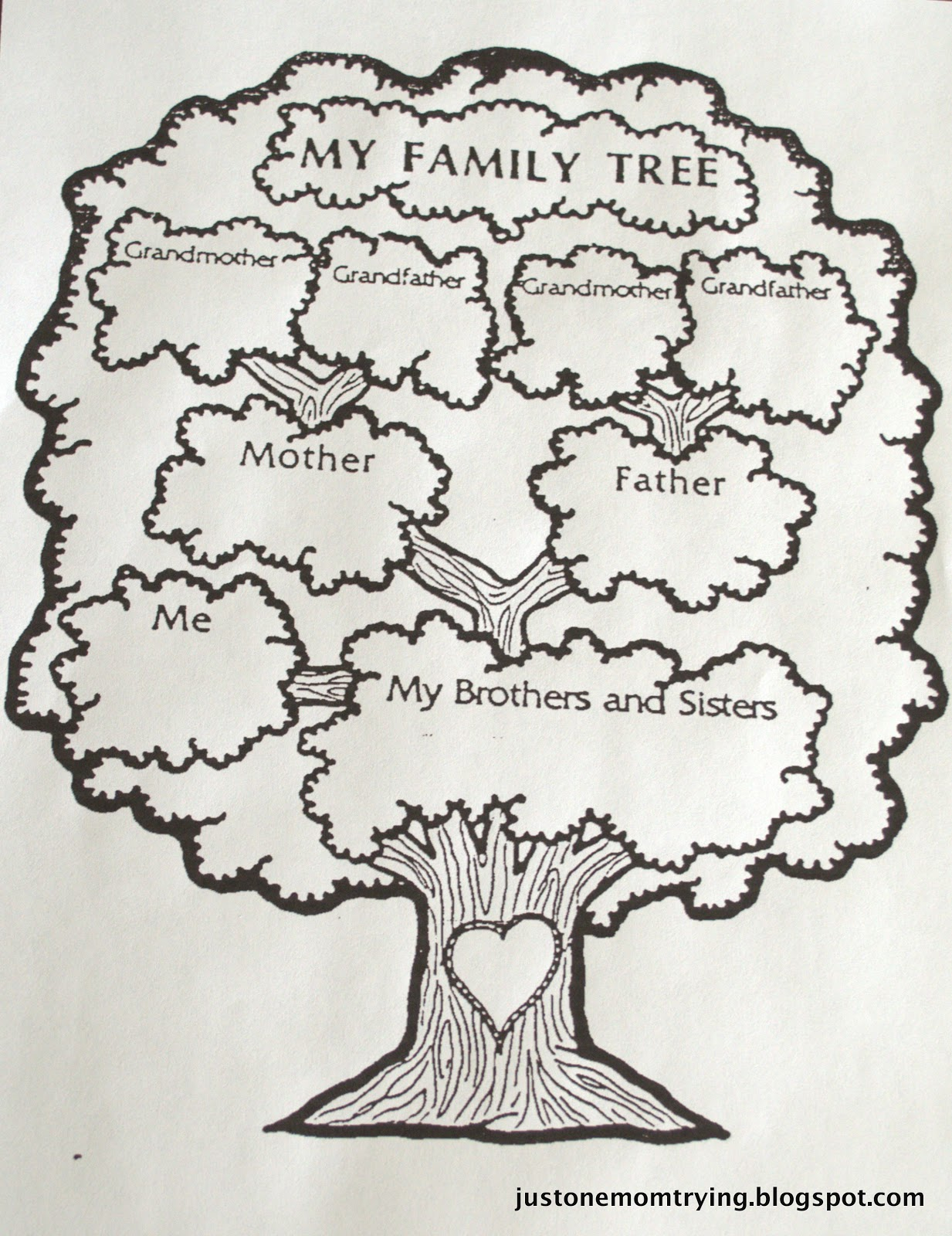 Cute Family Tree Template For Kids 4 With