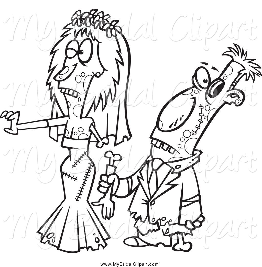 Halloween Clipart Bride And Groom8