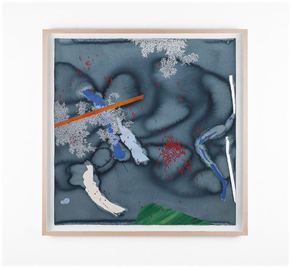 "Mongezi Ncaphayi, ""Metamorphosen V"", 2018, Indian Ink, Watercolour & Acrylic on Cotton Paper, 70 x 70 cm"