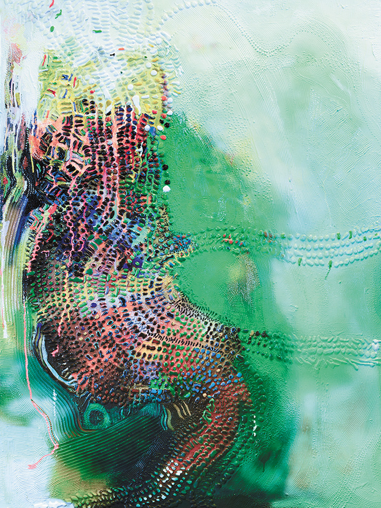 "Yohannes Tesfaye, ""Courage & beauty #3"", 2018. Mixed media on canvas, 122 x 92 cm. Courtesy of the artist and Addis Fine Art."