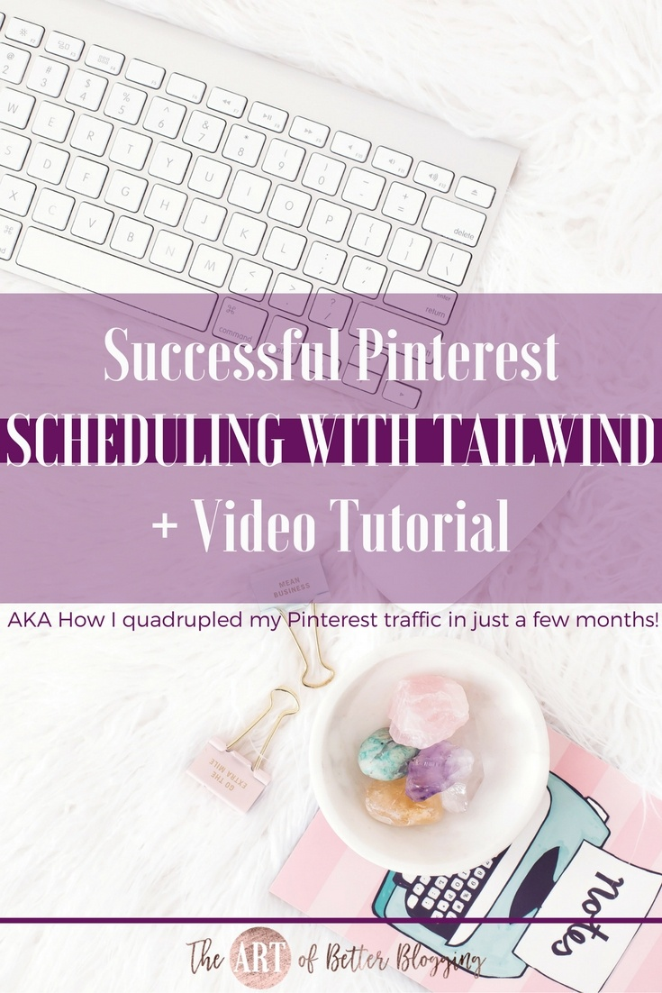 Pinterest scheduling using Tailwind can be confusing at first but, I promise; it's totally worth it. Find out how I've quadrupled my Pinterest traffic in just a few months! The Art of Better Blogging