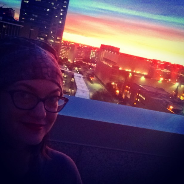 Sunrise from the 8th floor of MD Anderson