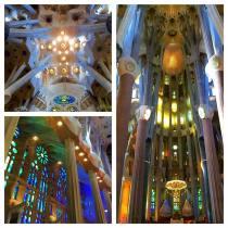 Interior of La Sagrada Familia, taken by Susan Kummerer