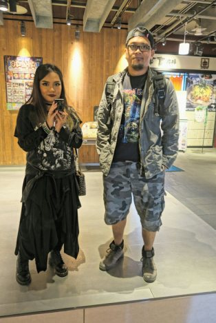 Me and hubby Kris armed for some IRON MAIDEN concert in Japan.