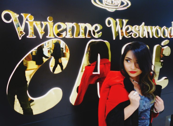 VIVIENNE WESTWOOD CAFE experience in HONG KONG with my VW ensemble